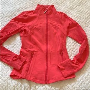 Lululemon define jacket in coral